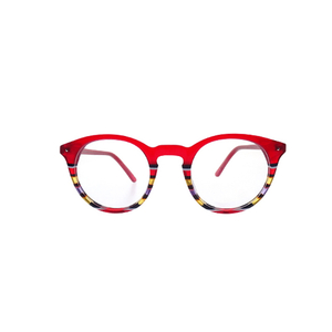 Anti Blue Light Red Round Plastic Optical Frame LO-B229