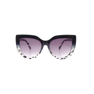 Trendy UV Plastic Fashionable Cow Pattern Sunglasses With Logo Bulk LS-P1041