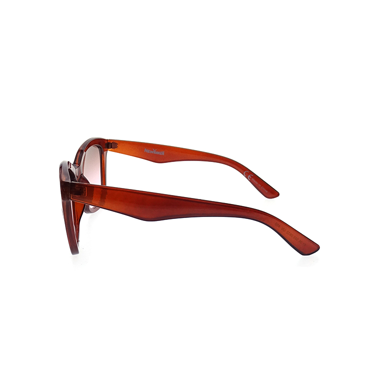 Ladies square plastic big red frame women eyeglass sunglasses LS-P814