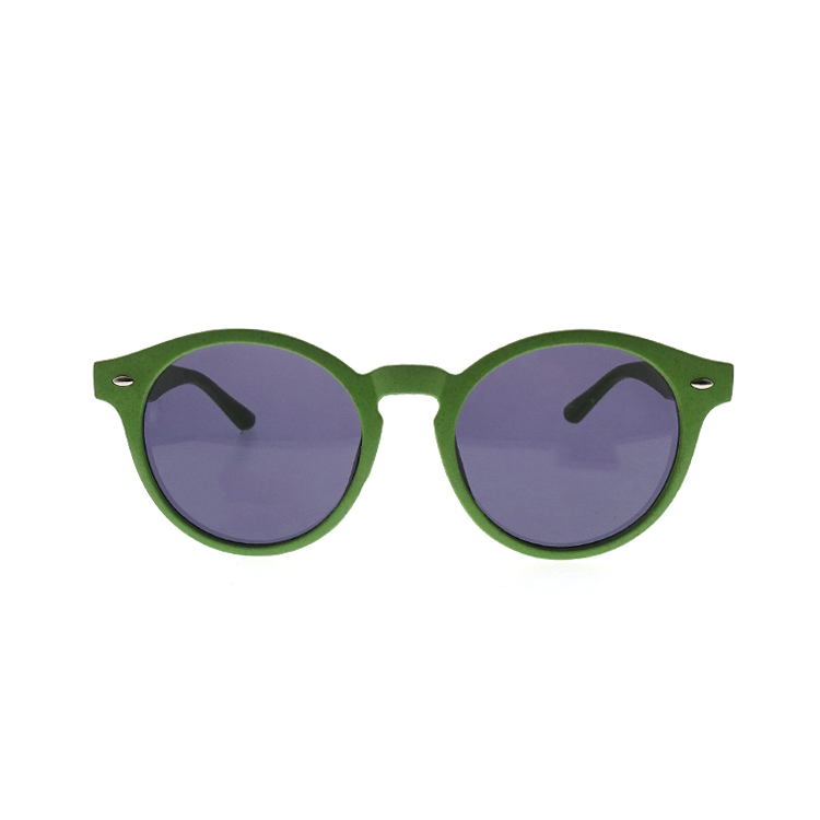 Fashion Round Green Lens PC Sunglasses With Logo LS-P1157